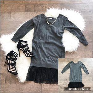 Romeo & Juliet Couture Sweater Lace Tunic